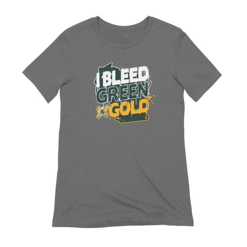 I Bleed Green & Gold Women's Extra Soft T-Shirt by Curly & Co.