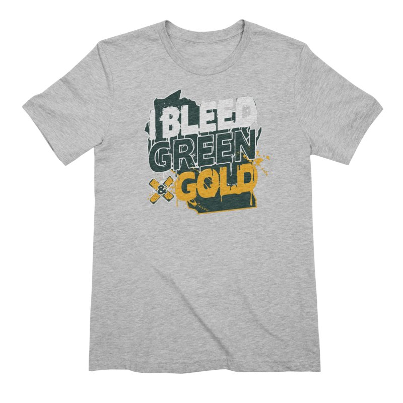 I Bleed Green & Gold Men's Extra Soft T-Shirt by Curly & Co.