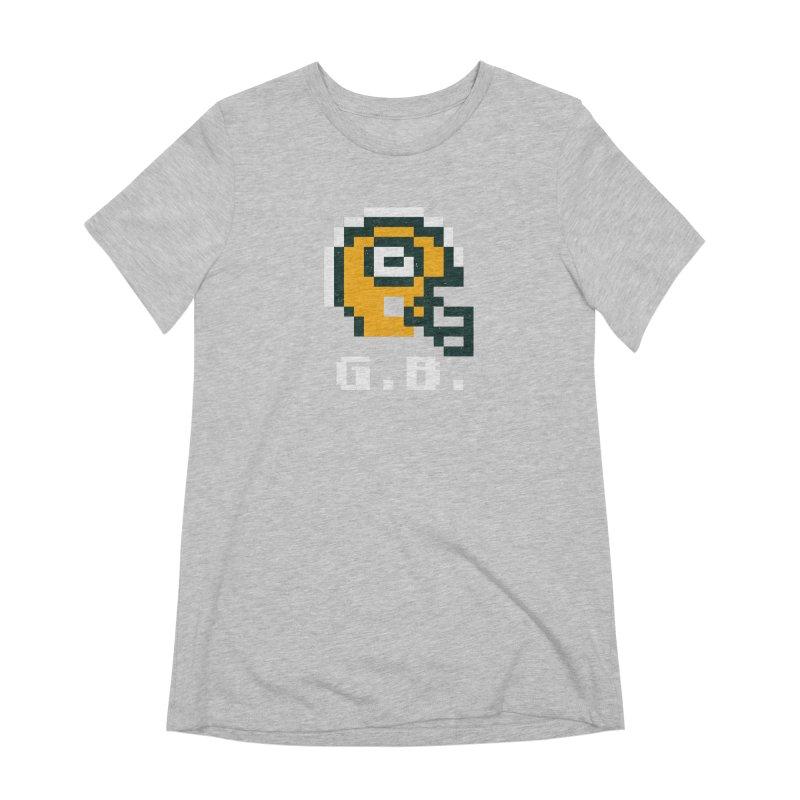 8-Bit Retro Green Bay Helmet Women's Extra Soft T-Shirt by Curly & Co.