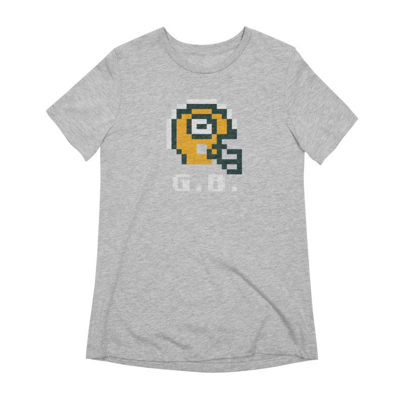 8-Bit Retro Green Bay Helmet Women's Extra Soft T-Shirt by Curly & Co.