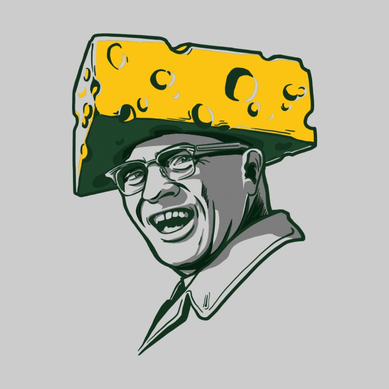 Cheesehead Vince Kids T-Shirt by Curly & Co.