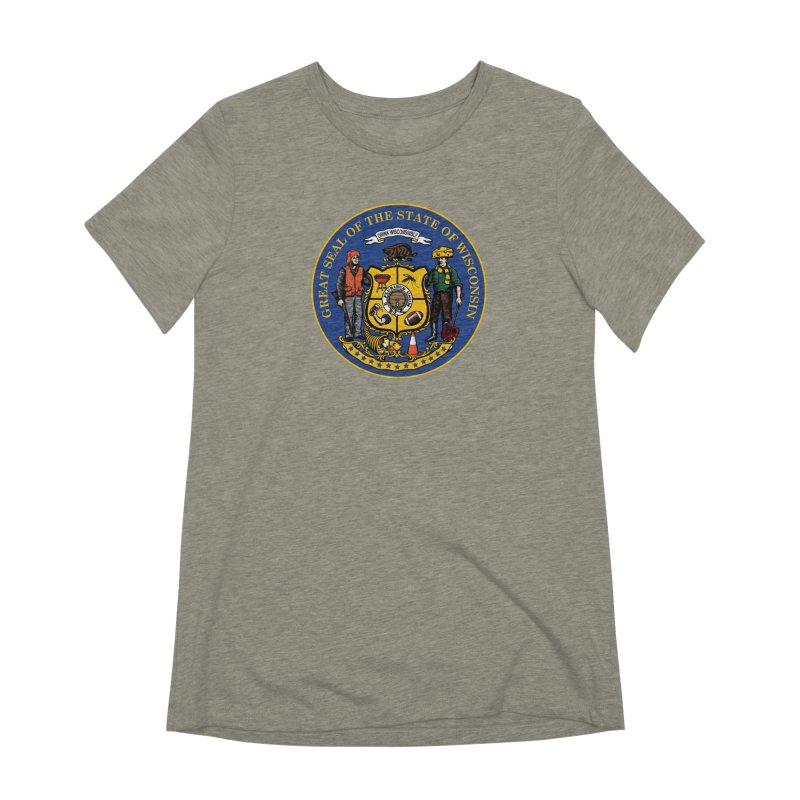Great Seal of the State of Wisconsin Women's Extra Soft T-Shirt by Curly & Co.