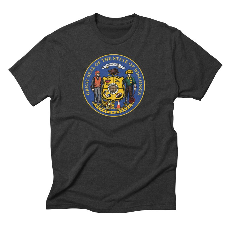 Great Seal of the State of Wisconsin Men's T-Shirt by Curly & Co.