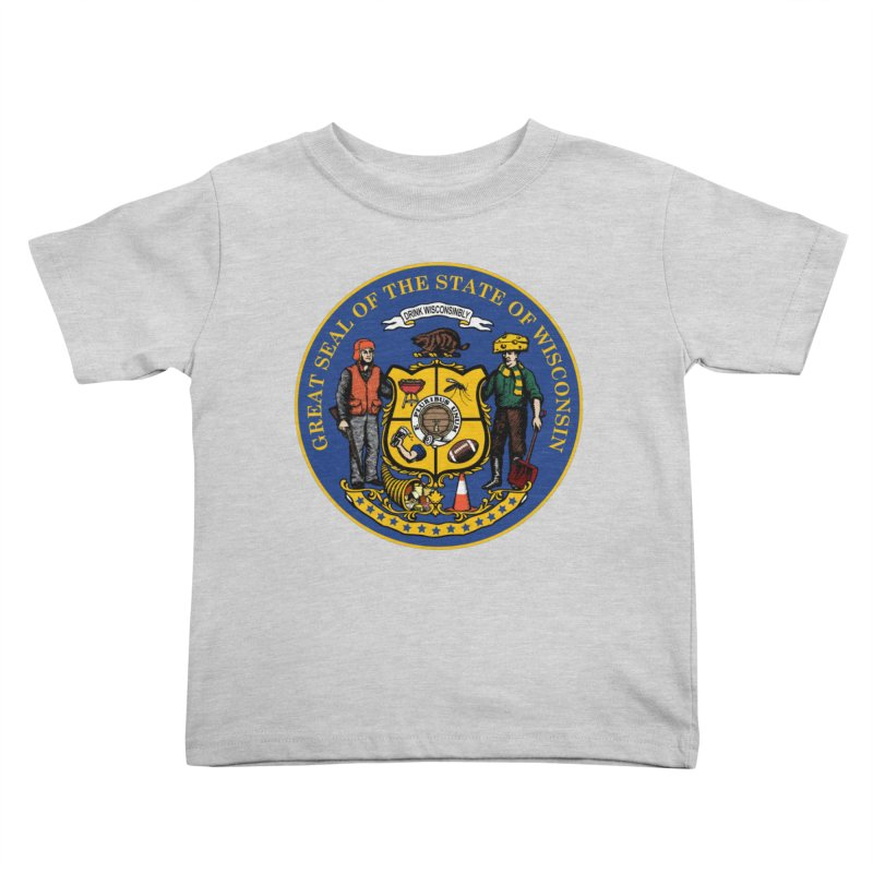 Great Seal of the State of Wisconsin Kids Toddler T-Shirt by Curly & Co.