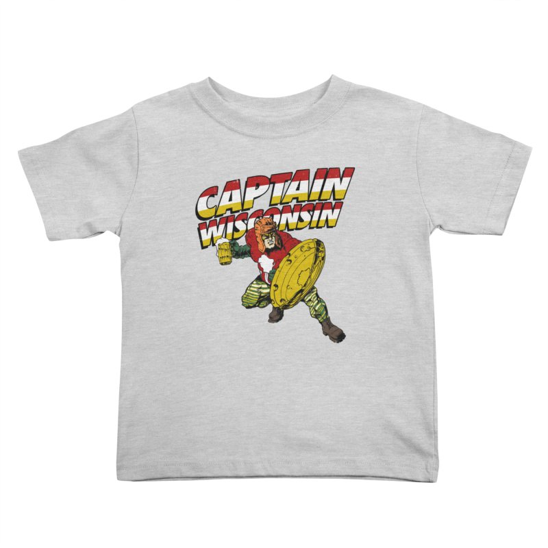 Captain Wisconsin Kids Toddler T-Shirt by Curly & Co.