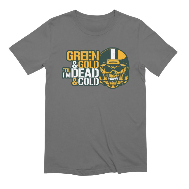 Green & Gold 'Til I'm Dead & Cold Men's T-Shirt by Curly & Co.