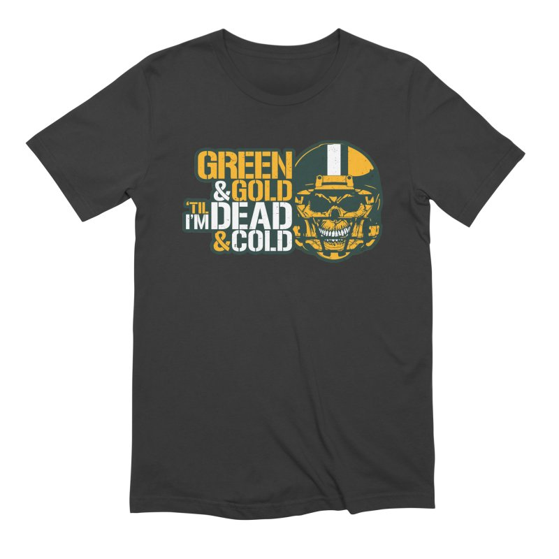 Green & Gold 'Til I'm Dead & Cold Men's Extra Soft T-Shirt by Curly & Co.