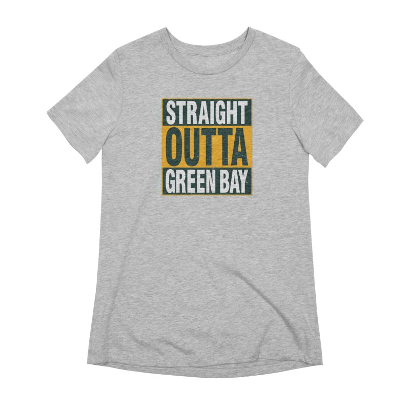 Straight Outta Green Bay Women's Extra Soft T-Shirt by Curly & Co.