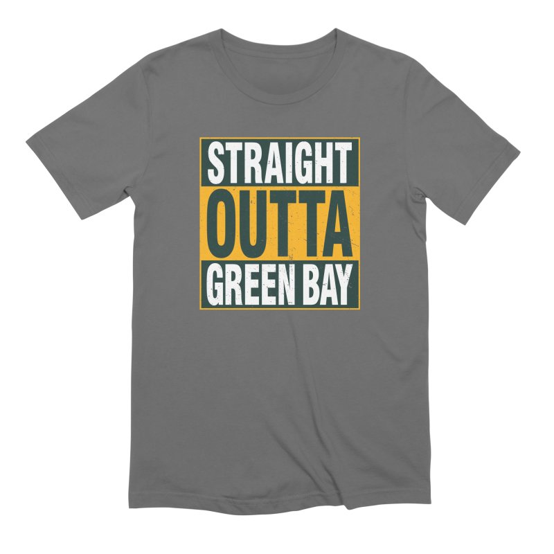 Straight Outta Green Bay Men's Extra Soft T-Shirt by Curly & Co.