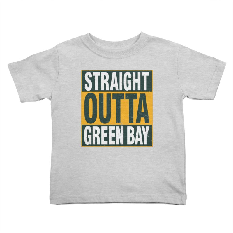 Straight Outta Green Bay Kids Toddler T-Shirt by Curly & Co.