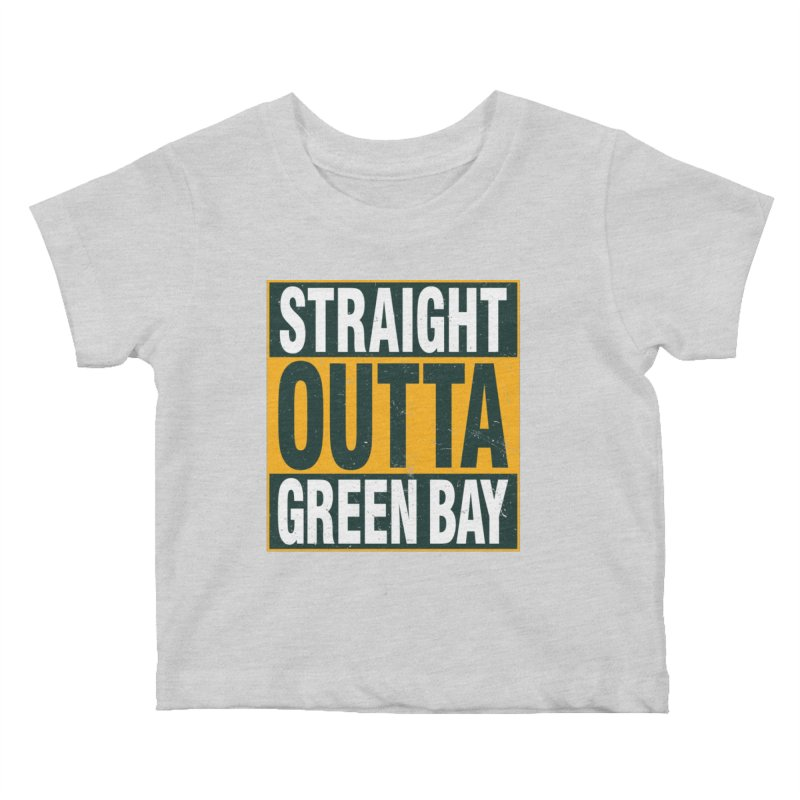 Straight Outta Green Bay Kids Baby T-Shirt by Curly & Co.