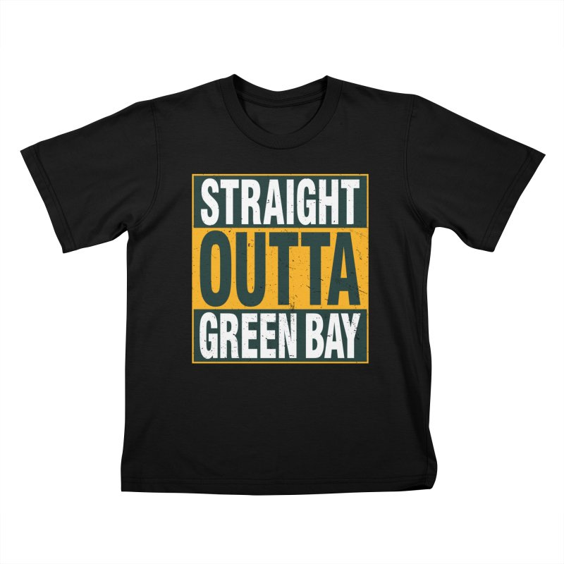Straight Outta Green Bay Kids T-Shirt by Curly & Co.