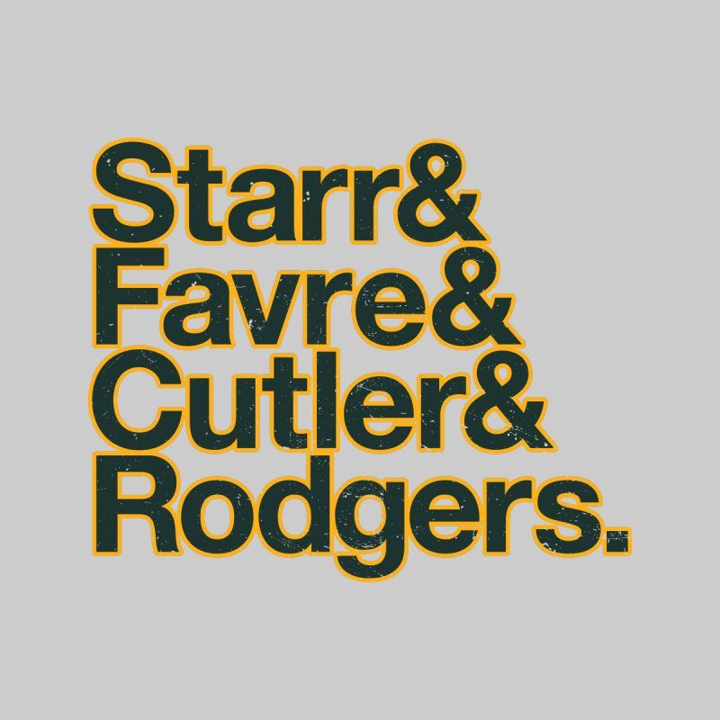 Starr & Favre & Cutler & Rodgers Men's T-Shirt by Curly & Co.