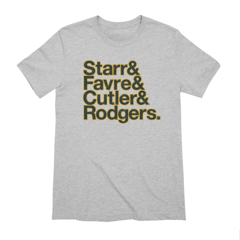 Starr & Favre & Cutler & Rodgers Men's Extra Soft T-Shirt by Curly & Co.