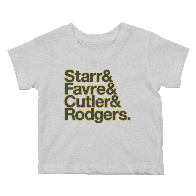Starr & Favre & Cutler & Rodgers Kids Baby T-Shirt by Curly & Co.
