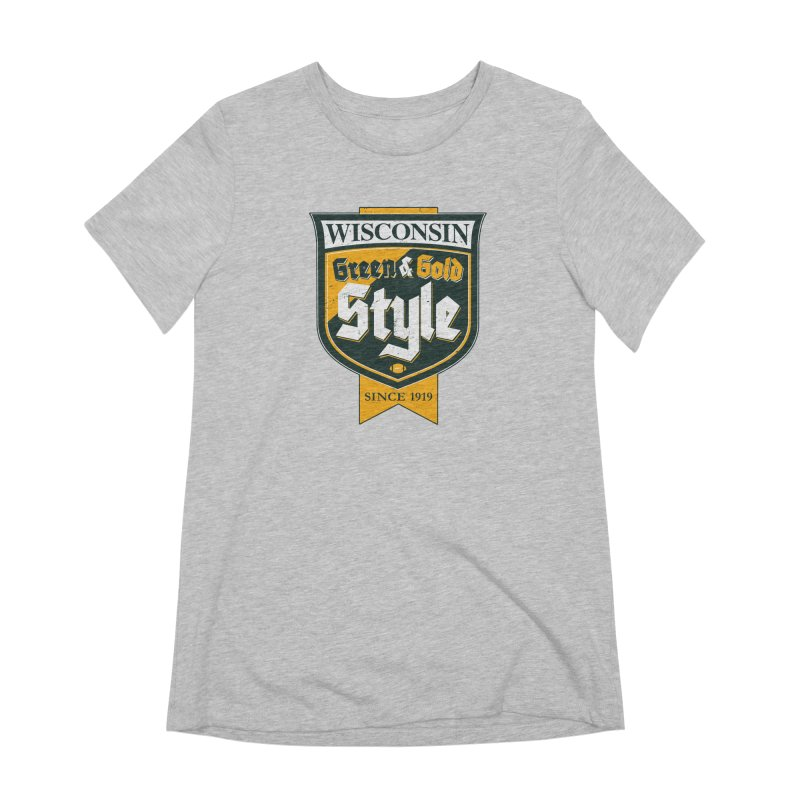 Green & Gold Style Women's Extra Soft T-Shirt by Curly & Co.