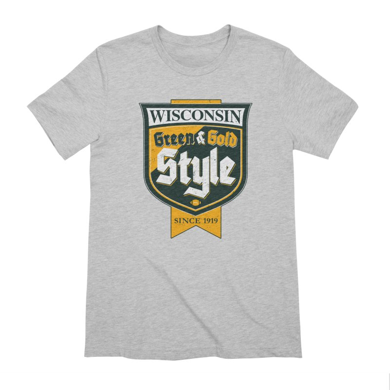 Green & Gold Style Men's Extra Soft T-Shirt by Curly & Co.