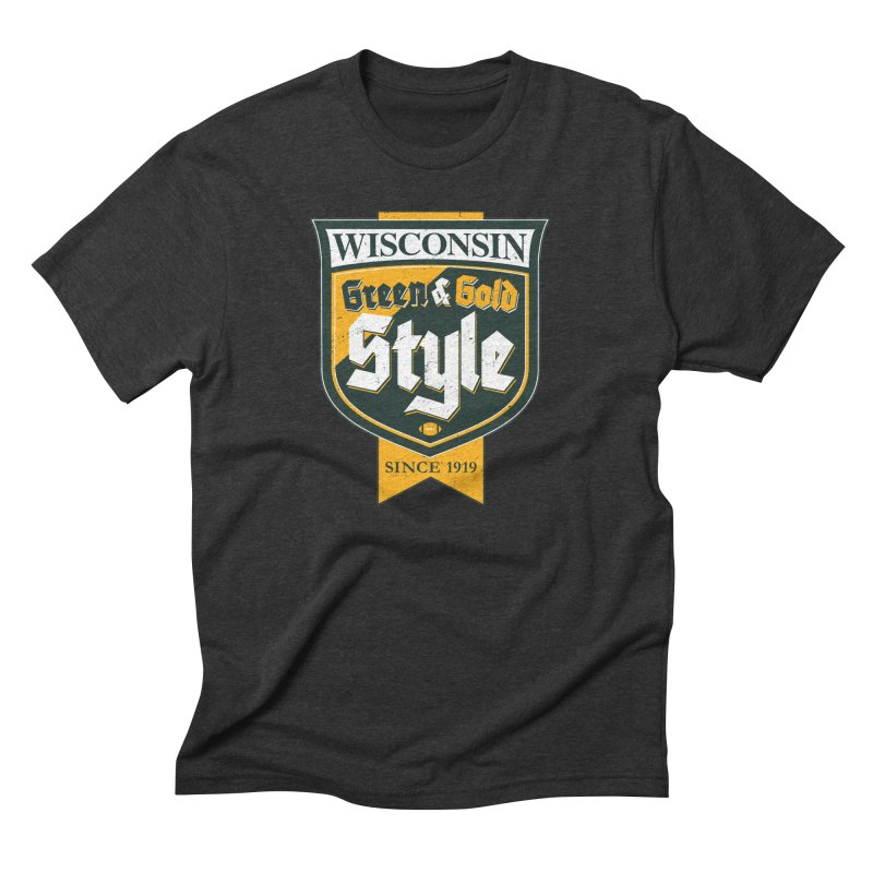 Green & Gold Style Men's Triblend T-Shirt by Curly & Co.