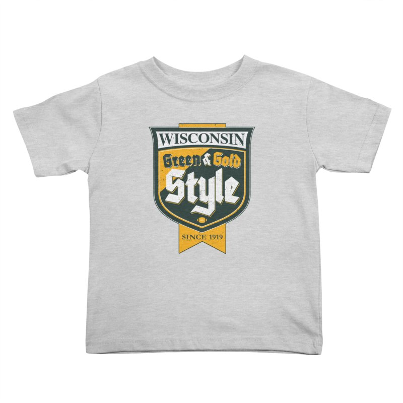 Green & Gold Style Kids Toddler T-Shirt by Curly & Co.