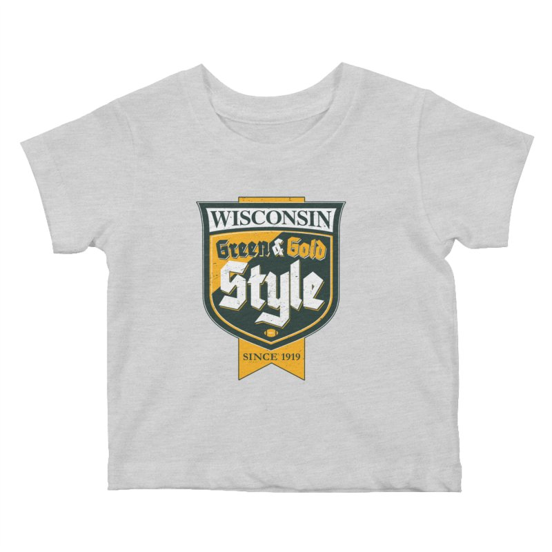 Green & Gold Style Kids Baby T-Shirt by Curly & Co.