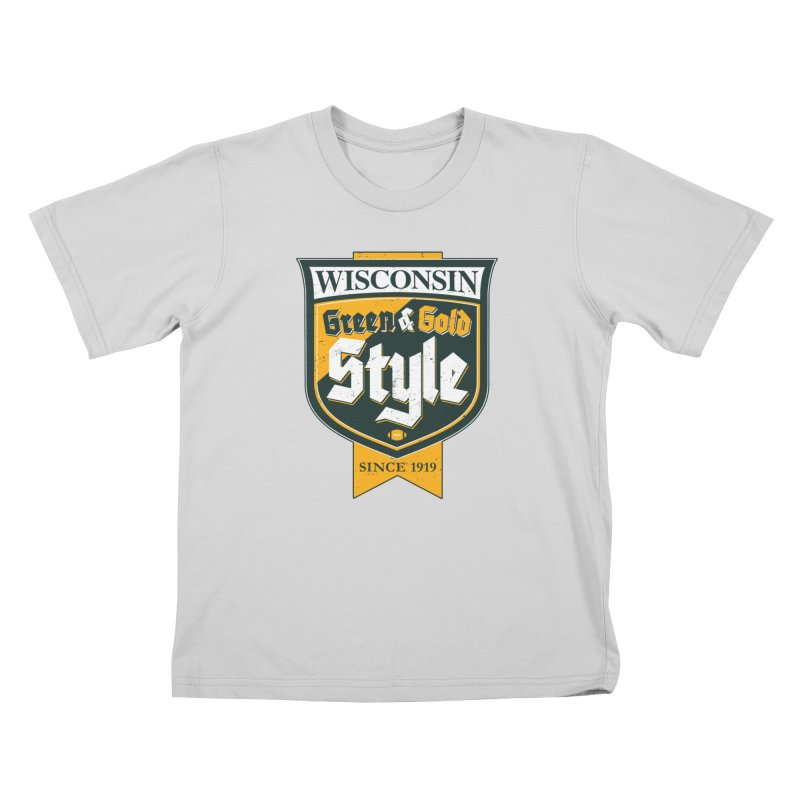 Green & Gold Style Kids T-Shirt by Curly & Co.