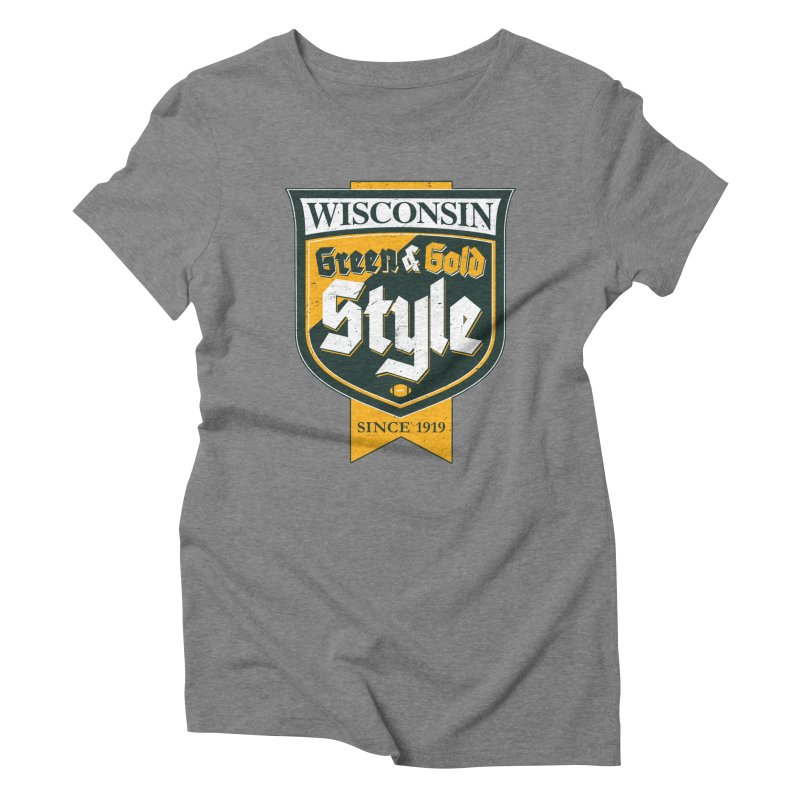 Green & Gold Style Women's Triblend T-Shirt by Curly & Co.