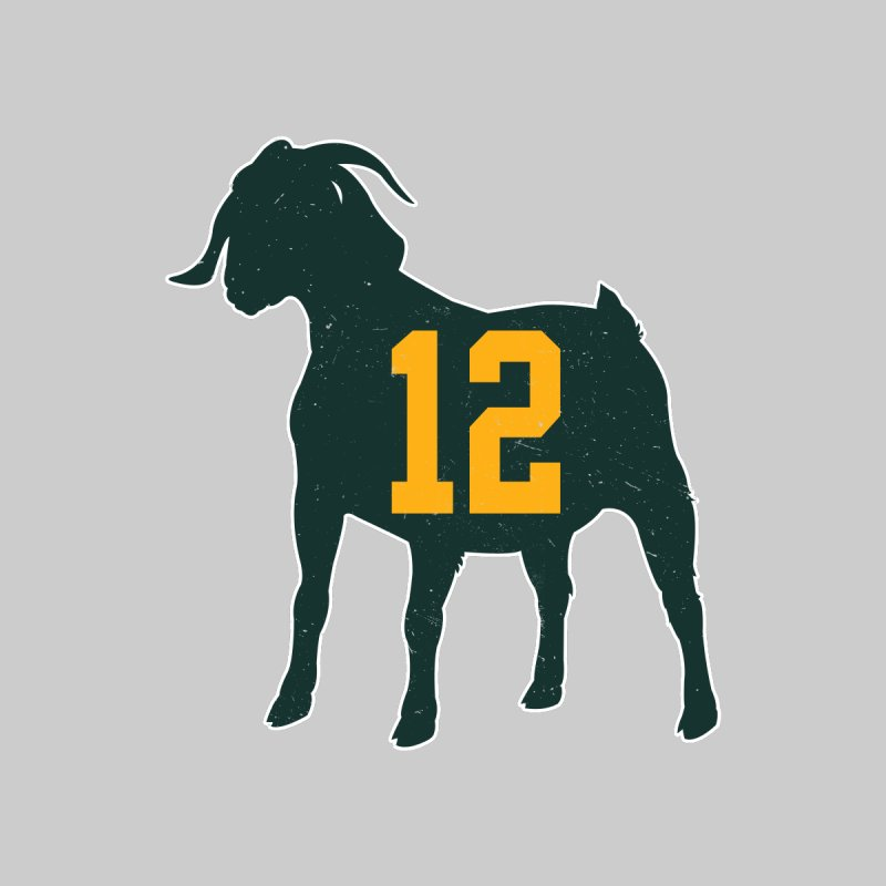 "Aaron Rodgers ""The GOAT"" Men's T-Shirt by Curly & Co."