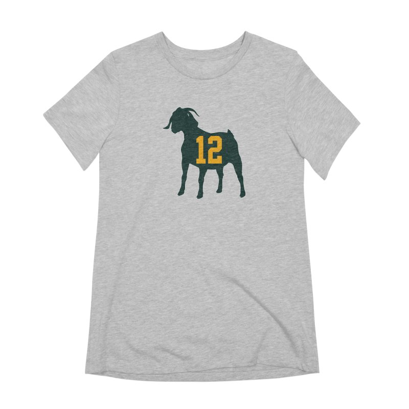 """Aaron Rodgers """"The GOAT"""" Women's Extra Soft T-Shirt by Curly & Co."""