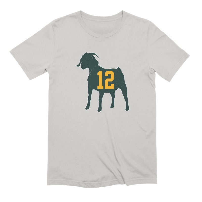 "Aaron Rodgers ""The GOAT"" Men's Extra Soft T-Shirt by Curly & Co."