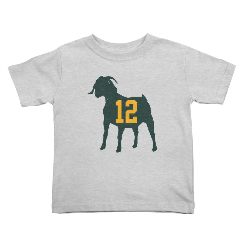 "Aaron Rodgers ""The GOAT"" Kids Toddler T-Shirt by Curly & Co."