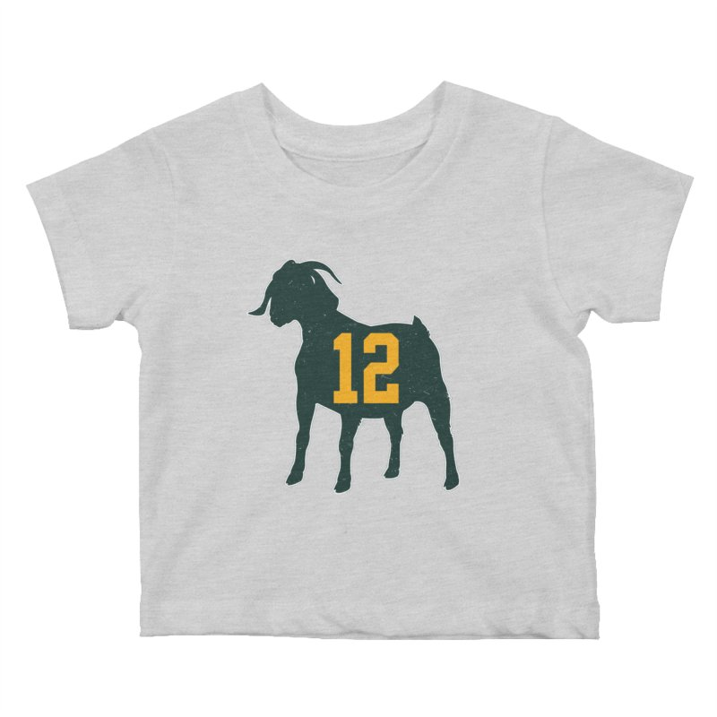 """Aaron Rodgers """"The GOAT"""" Kids Baby T-Shirt by Curly & Co."""