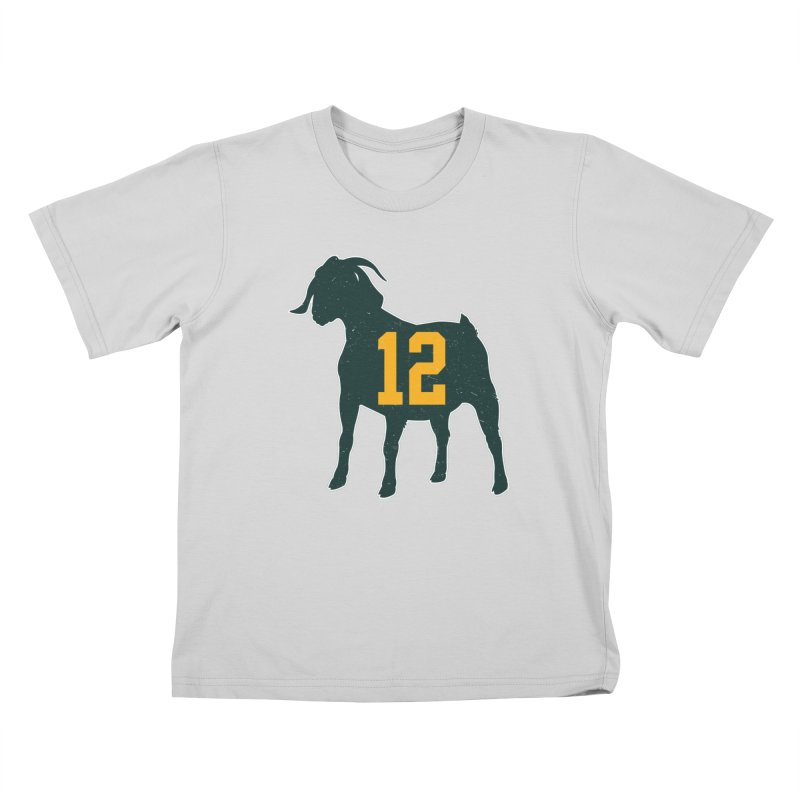 """Aaron Rodgers """"The GOAT"""" Kids T-Shirt by Curly & Co."""
