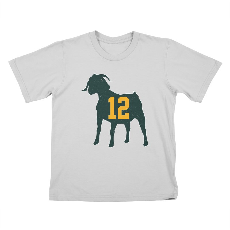 "Aaron Rodgers ""The GOAT"" Kids T-Shirt by Curly & Co."