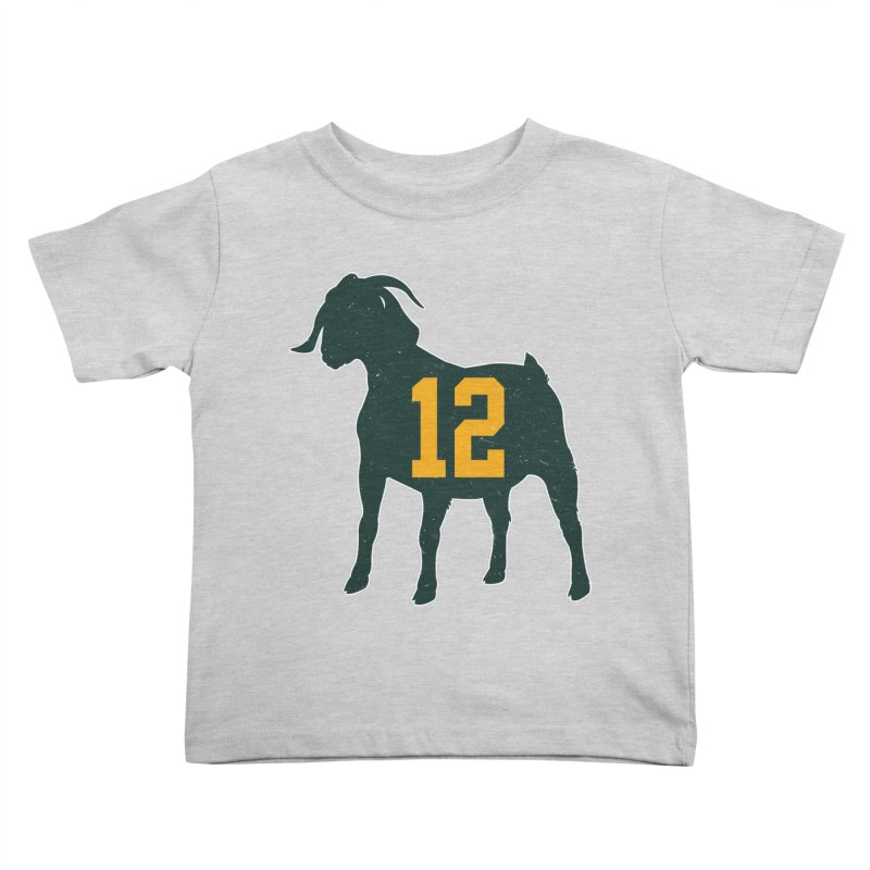 """Aaron Rodgers """"The GOAT"""" Kids Toddler T-Shirt by Curly & Co."""