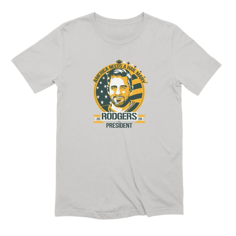 Aaron Rodgers for President 2020 Men's Extra Soft T-Shirt by Curly & Co.