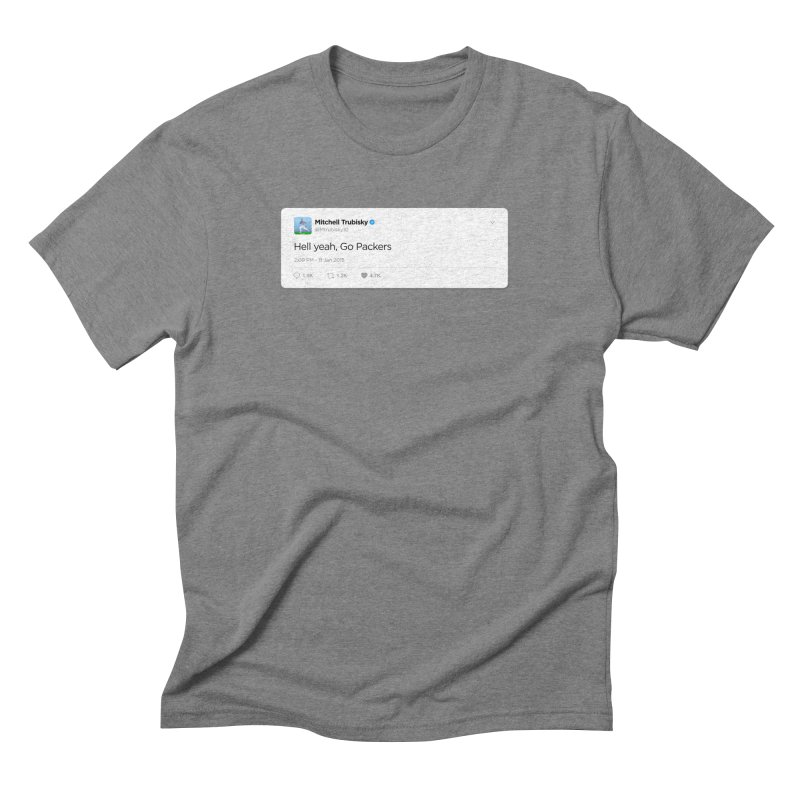 Hell yeah, Go Packers Men's Triblend T-Shirt by Curly & Co.