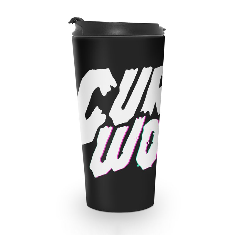 Curse Words Logo Accessories Travel Mug by CURSE WORDS OFFICIAL SHOP