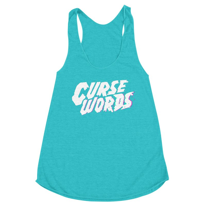 Curse Words Logo Women's Racerback Triblend Tank by CURSE WORDS OFFICIAL SHOP