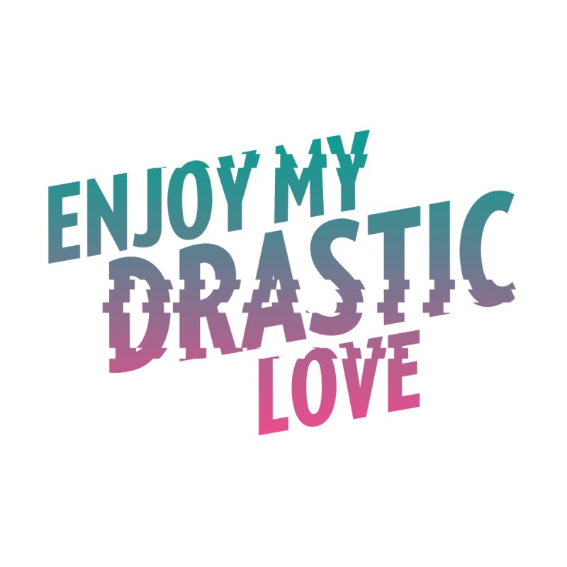 ENJOY MY DRASTIC LOVE Women's V-Neck by CURSE WORDS OFFICIAL SHOP