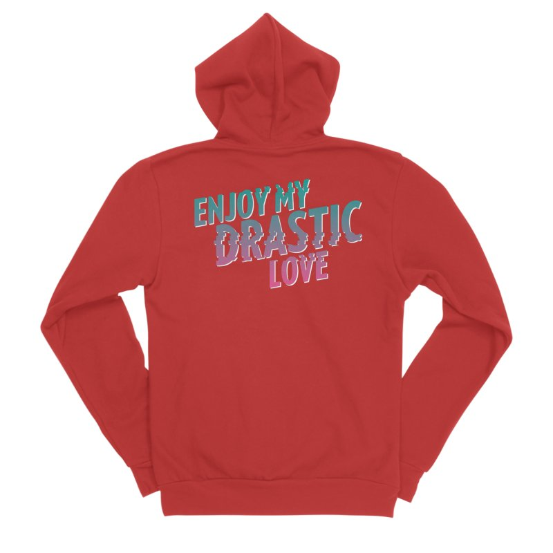 ENJOY MY DRASTIC LOVE Men's Zip-Up Hoody by CURSE WORDS OFFICIAL SHOP