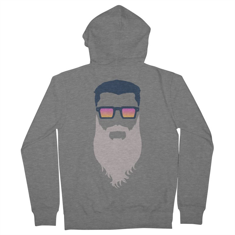 WIZORD MINIMALIST Men's French Terry Zip-Up Hoody by CURSE WORDS OFFICIAL SHOP