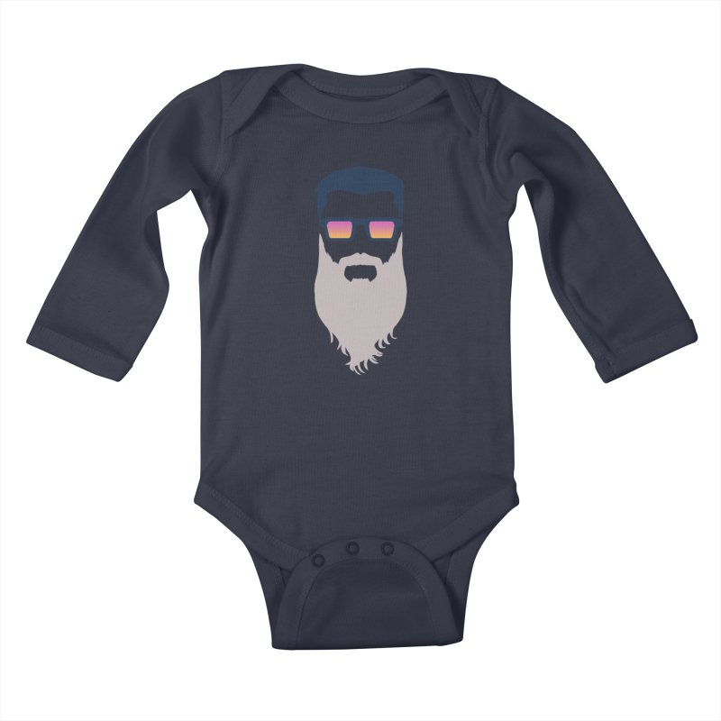 WIZORD MINIMALIST Kids Baby Longsleeve Bodysuit by CURSE WORDS OFFICIAL SHOP