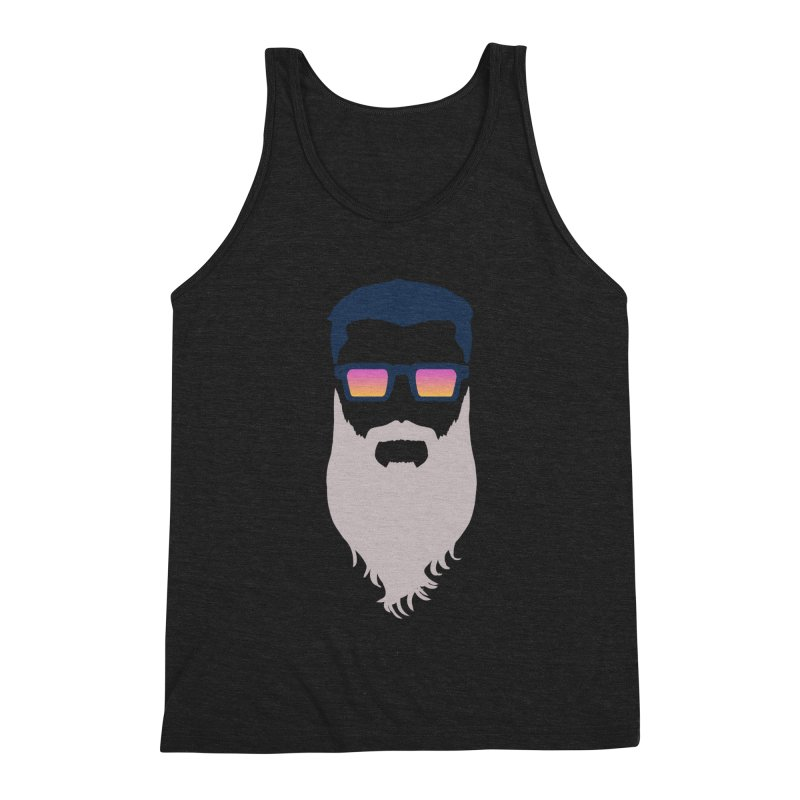 WIZORD MINIMALIST Men's Triblend Tank by CURSE WORDS OFFICIAL SHOP