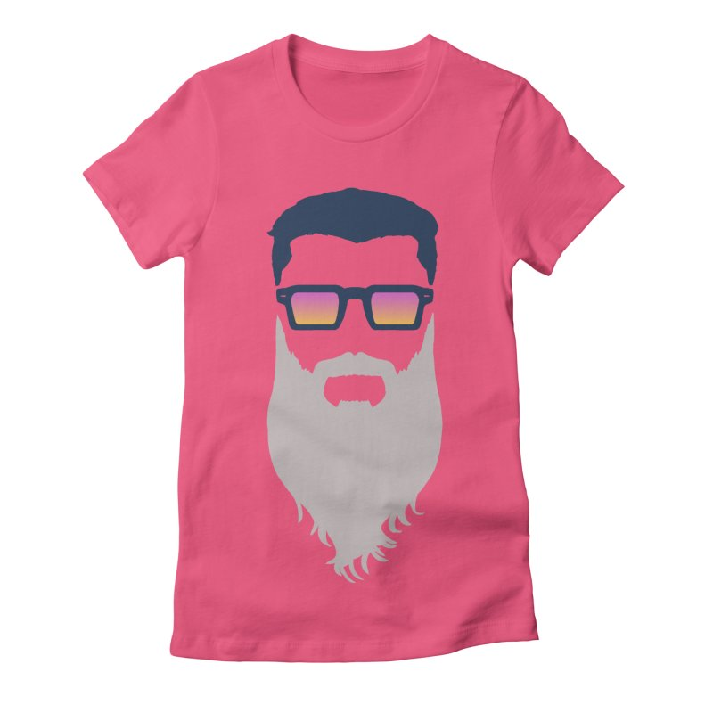 WIZORD MINIMALIST Women's Fitted T-Shirt by CURSE WORDS OFFICIAL SHOP