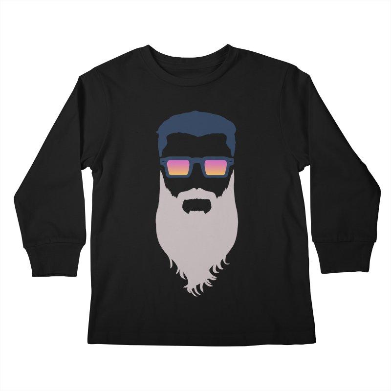 WIZORD MINIMALIST Kids Longsleeve T-Shirt by CURSE WORDS OFFICIAL SHOP