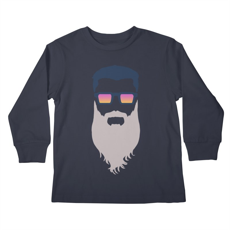 WIZORD MINIMALIST Kids Longsleeve T-Shirt by CURSE WORDS OFFICIAL SHOP