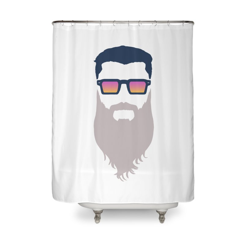 WIZORD MINIMALIST Home Shower Curtain by CURSE WORDS OFFICIAL SHOP