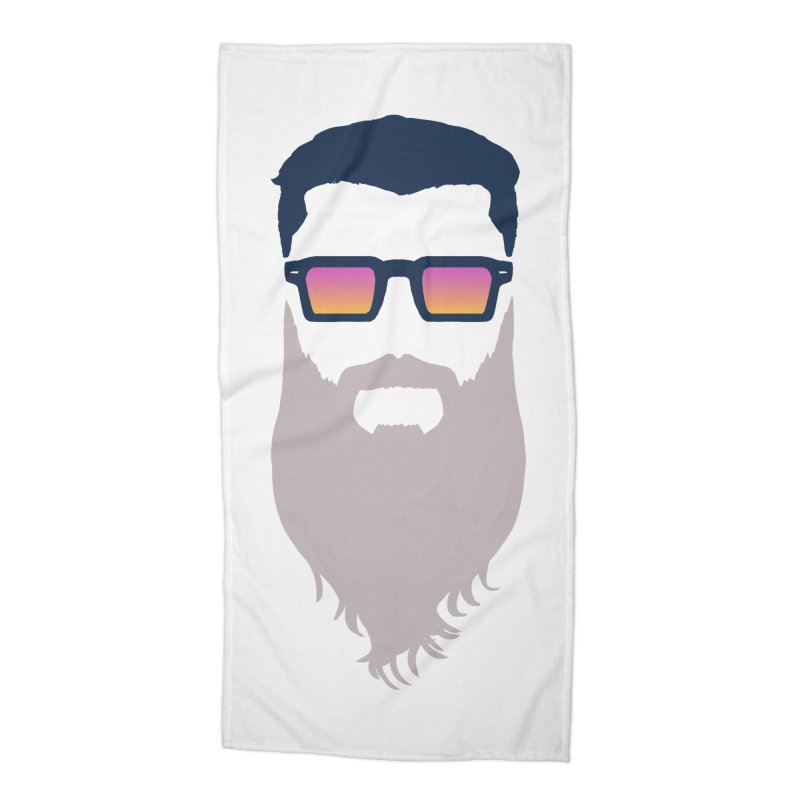WIZORD MINIMALIST Accessories Beach Towel by CURSE WORDS OFFICIAL SHOP