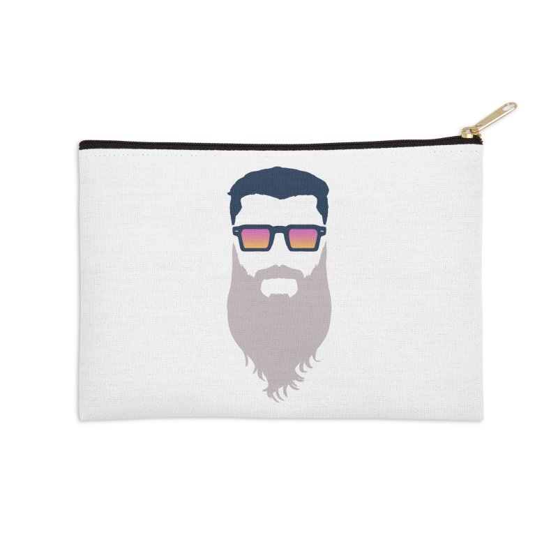 WIZORD MINIMALIST Accessories Zip Pouch by CURSE WORDS OFFICIAL SHOP