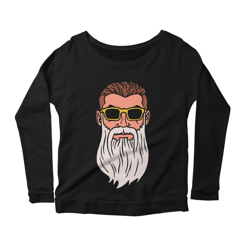 WIZORD Women's Scoop Neck Longsleeve T-Shirt by CURSE WORDS OFFICIAL SHOP